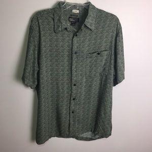 Marc Edwards Geometric Print Hawaiian Shirt Sz L